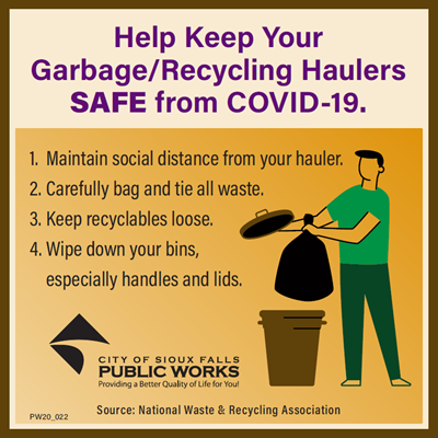 Help Keep Your Garbage/Recycling Haulers Safe from COVID-19