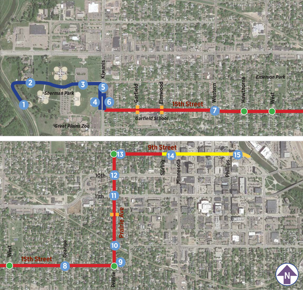 15th Street Summary Map