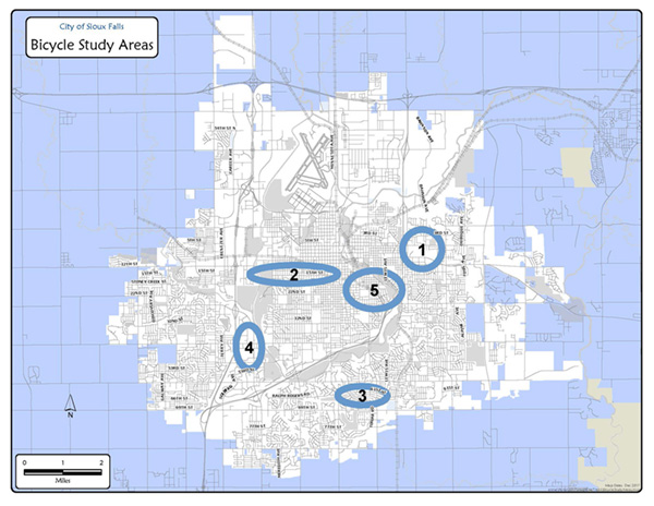 Bicycle Study Areas
