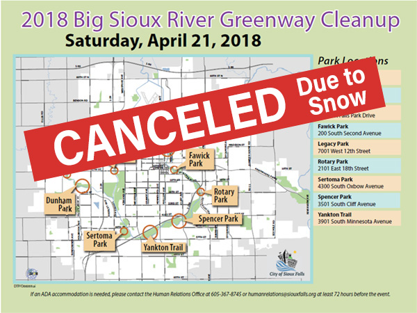 Big Sioux River Greenway Cleanup Map